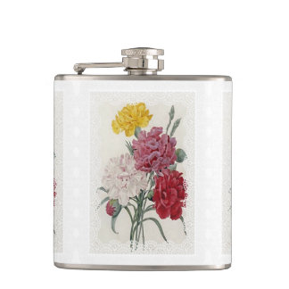 Delicate Dianthus Flask