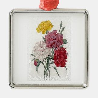 Delicate Dianthus Metal Ornament