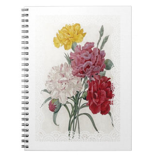 Delicate Dianthus Spiral Notebook