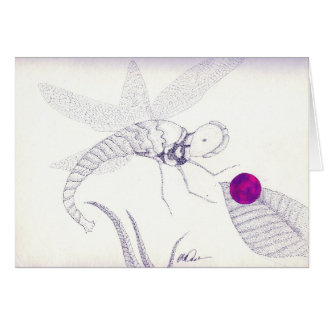 Delicate dragonfly greeting card