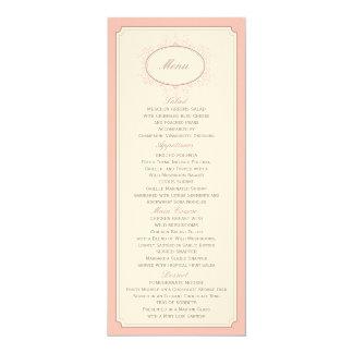 Delicate Dream Wedding Menu in Soft Pink Card