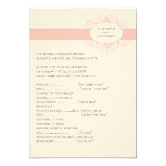 Delicate Dream Wedding Program in Soft Pink Card