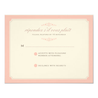 Delicate Dream Wedding RSVP in Soft Pink Card