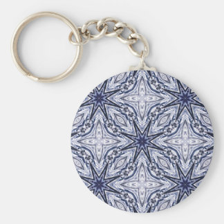 Delicate elegance blue and white keychain