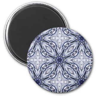 Delicate elegance blue and white magnet