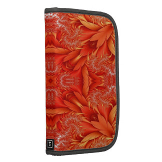 Delicate Feather Fractal - red orange Folio Planner