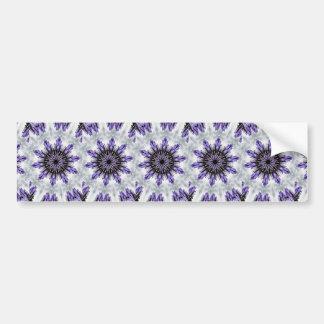 Delicate Feminine Purple Lacy Floral Kaleidoscope Bumper Stickers