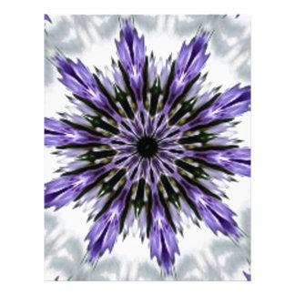 Delicate Feminine Purple Lacy Floral Kaleidoscope Personalized Letterhead