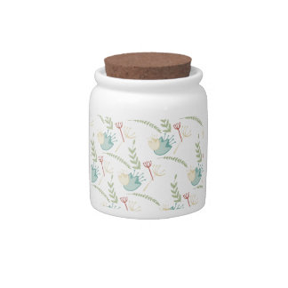 Delicate Floral Art Candy Jars