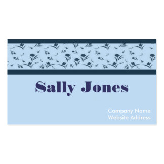 Delicate Floral Business Card Template