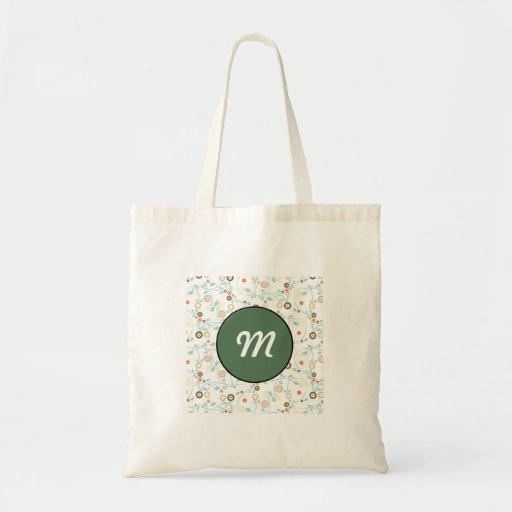 Delicate floral design budget tote bag