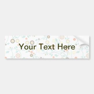 Delicate floral design bumper sticker