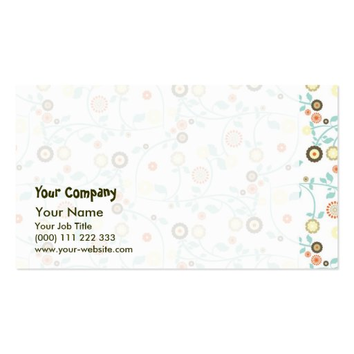 Delicate floral design Double-Sided standard business cards (Pack of 100)
