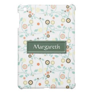 Delicate floral design iPad mini case