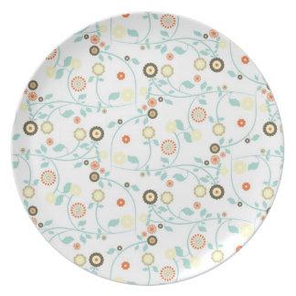 Delicate floral design plate