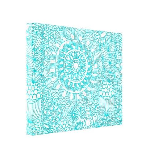 delicate floral lattice pattern canvas prints