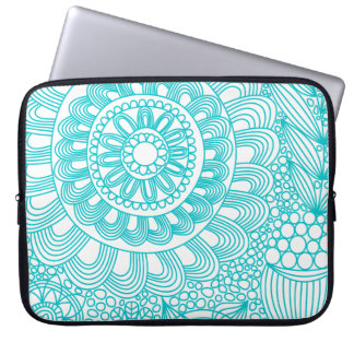 delicate floral lattice pattern computer sleeve