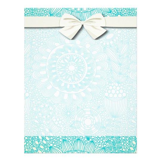 delicate floral lattice pattern flyer