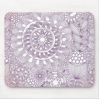 delicate floral lattice pattern II Mouse Pad