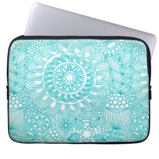 delicate floral lattice pattern laptop computer sleeves