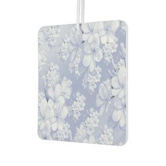Delicate floral pattern,blue (I) Car Air Freshener
