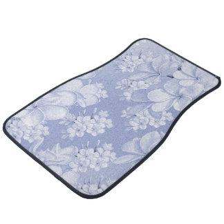 Delicate floral pattern,blue (I) Car Mat
