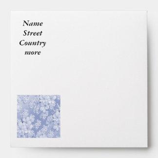Delicate floral pattern,blue (I) Envelope