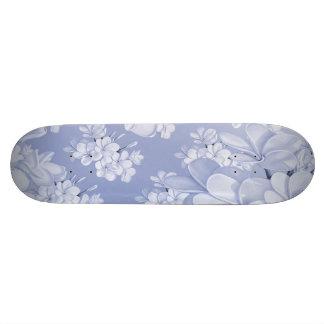 Delicate floral pattern,blue (I) Skateboard Deck