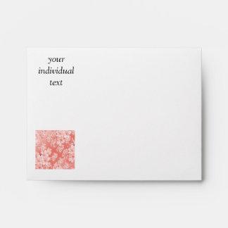 Delicate floral pattern,pink (I) Envelope