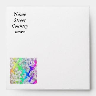Delicate floral pattern,rainbow (I) Envelopes