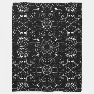 Delicate Floral Repeating Black & White Pattern