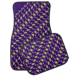 Delicate Floral Ribbon and Yellow Flowers Car Mat