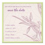 Delicate floral save the date 5.25x5.25 square paper invitation card