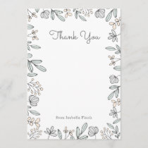 Delicate Floral Thank You Card