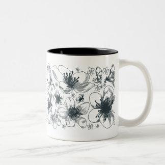 Delicate Flower Drawing mug