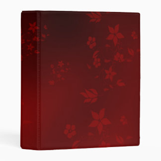 delicate flower in red mini binder