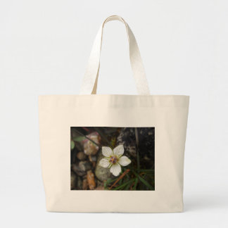Delicate Flower on the Rocks Large Tote Bag
