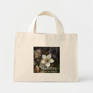Delicate Flower on the Rocks; Yukon Souvenir Mini Tote Bag