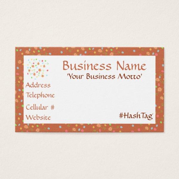 Delicate Flowered Designer Business Card