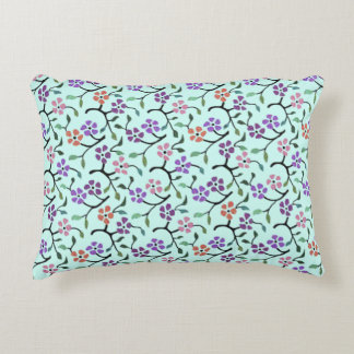 Delicate Flowers Accent Pillow