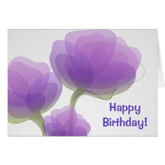 Delicate Flowers Birthday Card