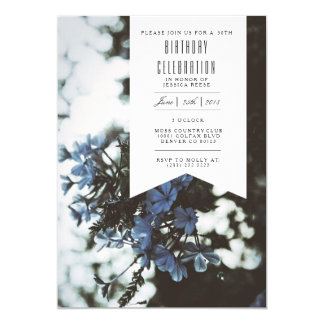 Delicate Flowers | Birthday Party Invitation