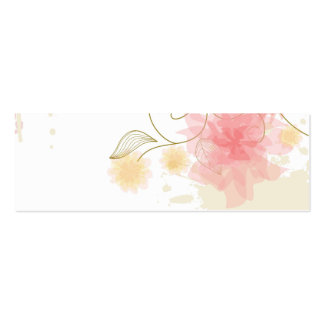 Delicate flowers bookmarker business card