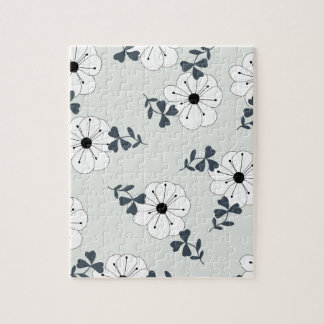 Delicate Flowers Design Jigsaw Puzzle