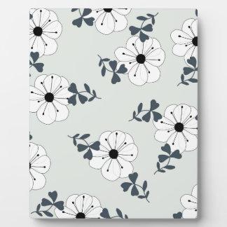 Delicate Flowers Design Plaque
