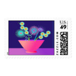 Delicate flowers postage