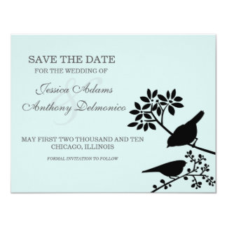 delicate flowers save the date personalized invite