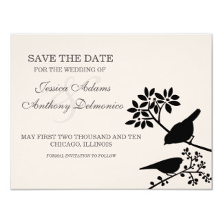 delicate flowers save the date invite