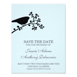 delicate flowers save the date announcements