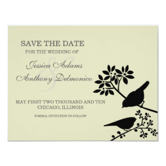 delicate flowers save the date custom announcement